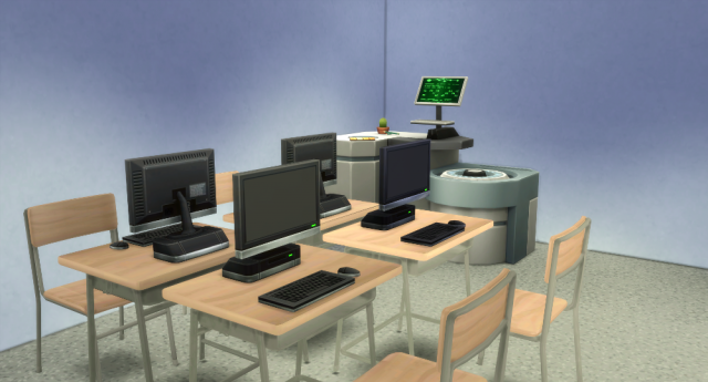 School Desk and Chair by WestwoodSims