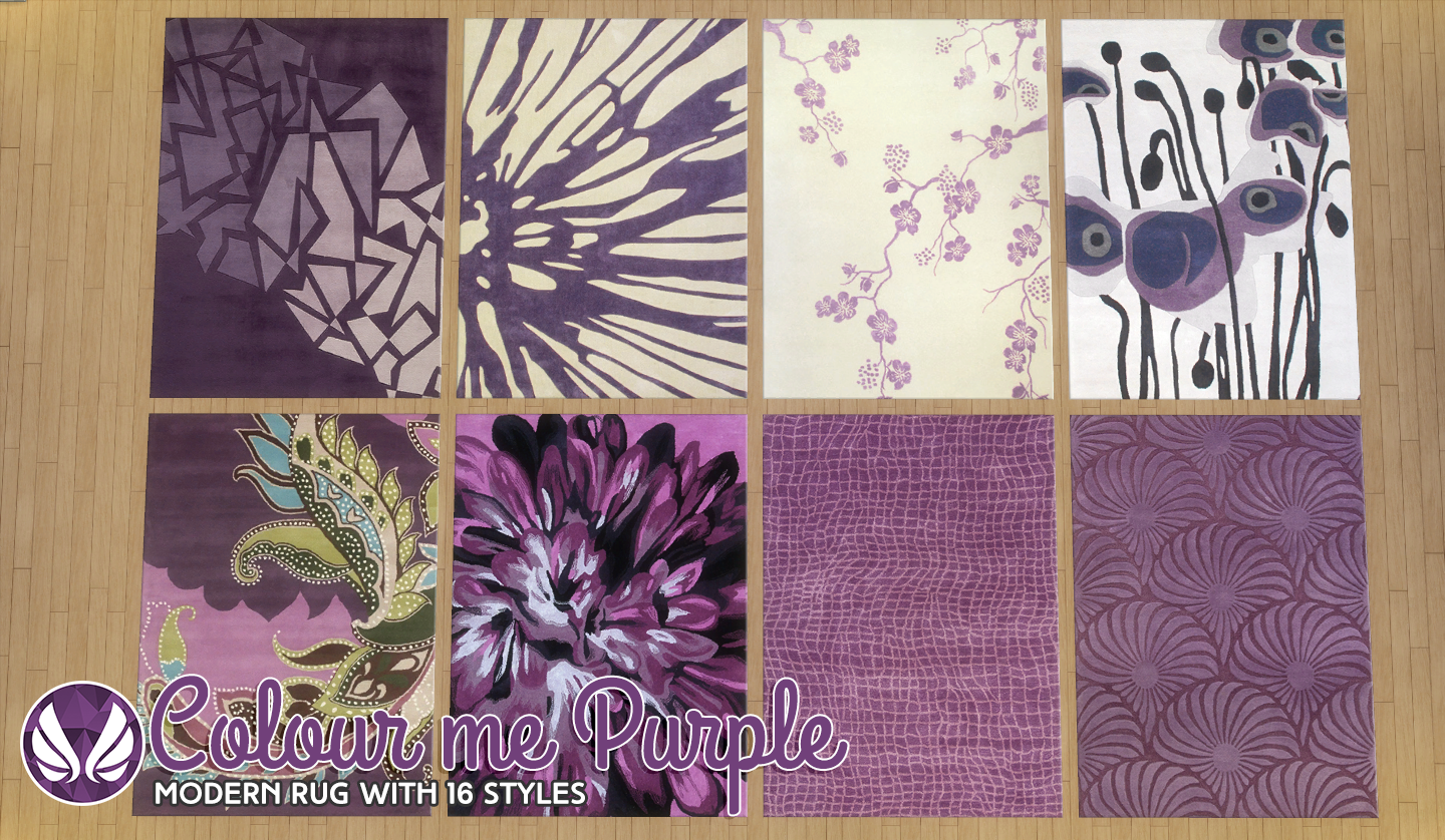 Color Me Purple Rugs by Peacemaker ic