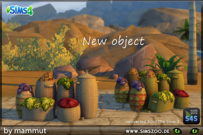 Egypt Baskets by Blackys Sims Zoo