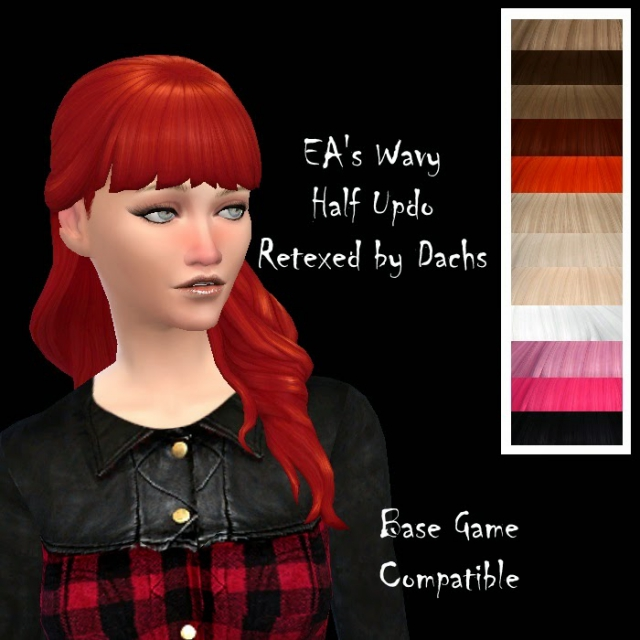 Base Game Compatible Hair & Recolors от Dachs