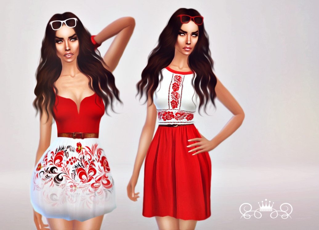 Modern Russian Traditional Collection by Fashion Royalty Sims