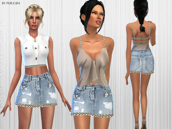 Soft Denim Dresses by  Puresim