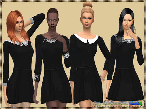 Dress with Collar by bukovka