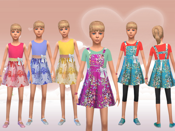 Girl Two Piece And Overall Dress by melisa inci