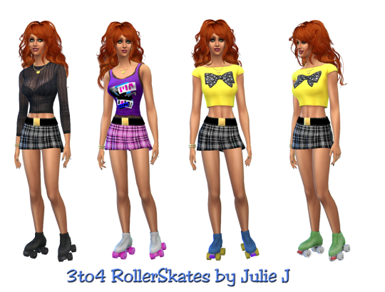 TS3 Roller Skates Conversion by JulieJ