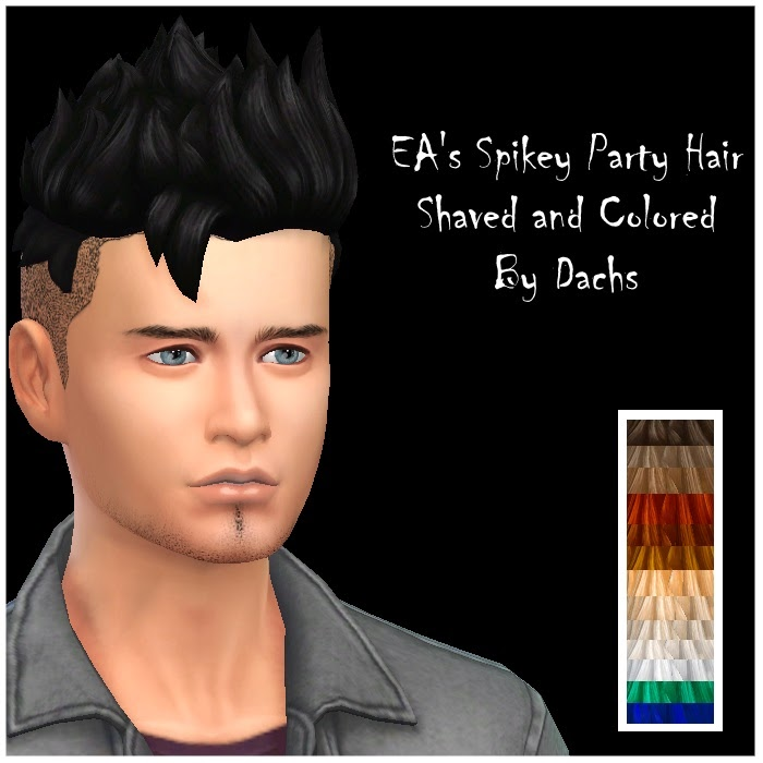 EA's Spikey Hair Shaved for Males and Females by Dachs