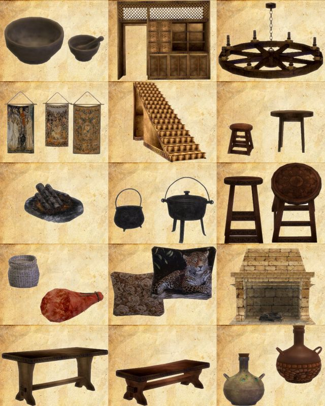 Medieval Set - 18 Objects by Kresten 22