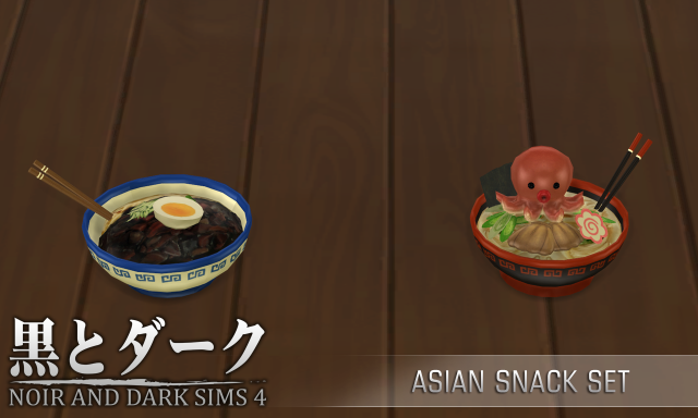 TERA - Asian Snack Set by Noiranddarksims