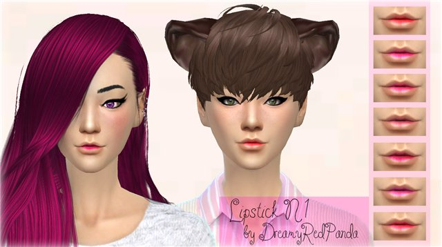 Lipstick for TS4 by DreamyRedPanda