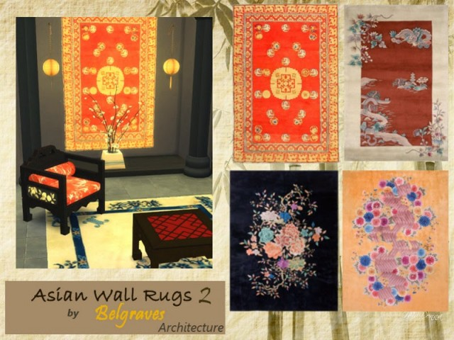 Asian Wall Rugs by Leander Belgraves