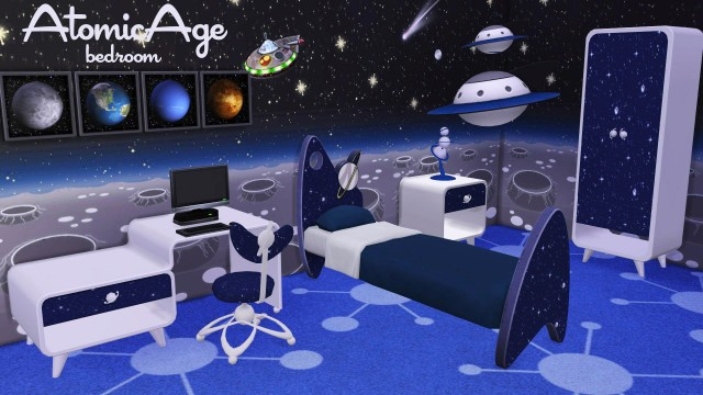 TS2 - Atomic Age Bedroom Conversion by BrialImmortelle