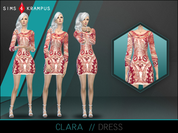 Clara Dress by SIms4Krampus