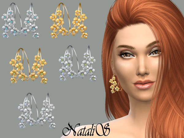 NataliS_Hoop flower earrings FT-FE