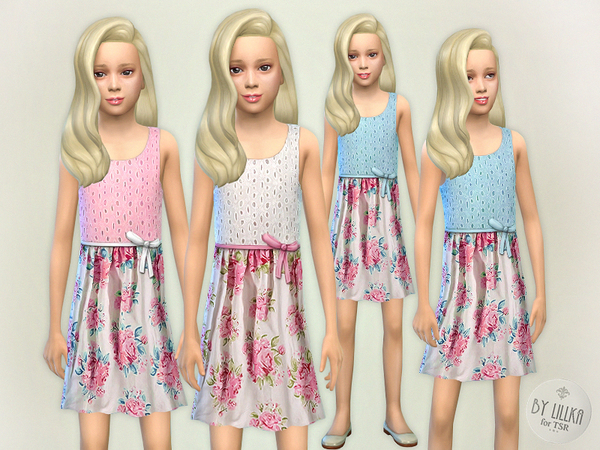 Pink Floral Dress by lillka