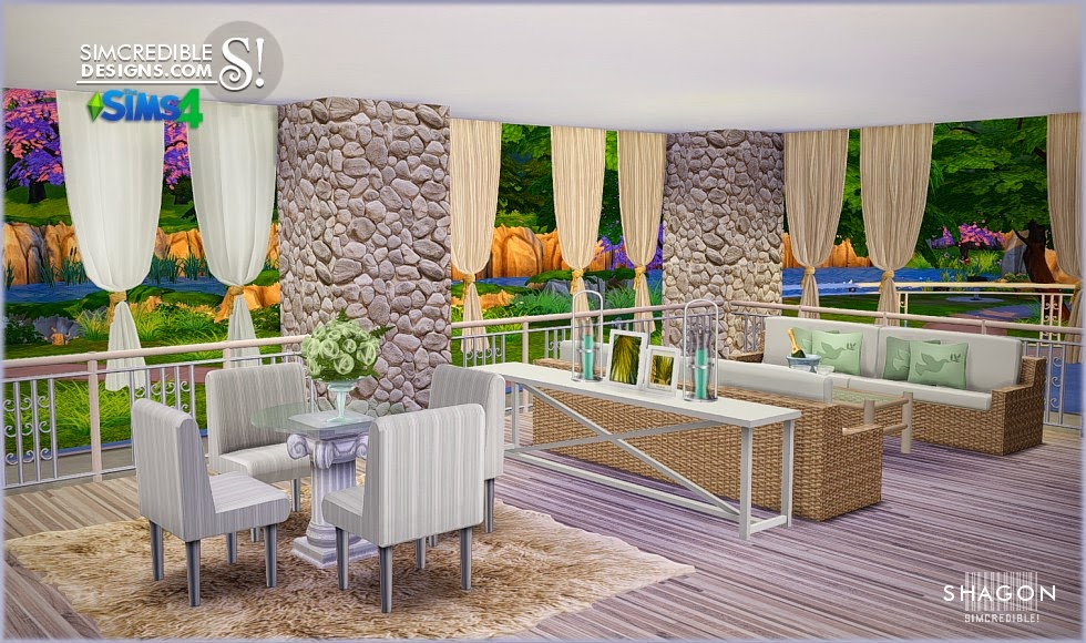 Shagon Dining Set by Simcredible Designs