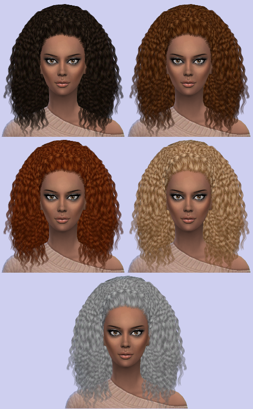 Nouks Kinky Curly Hair and Braid Accessory Conversion by MonsterMadnessWorld