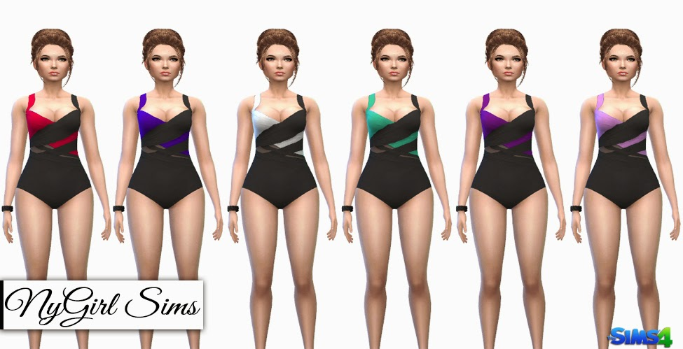 Multi Wrapped Swimsuit by NyGirl Sims