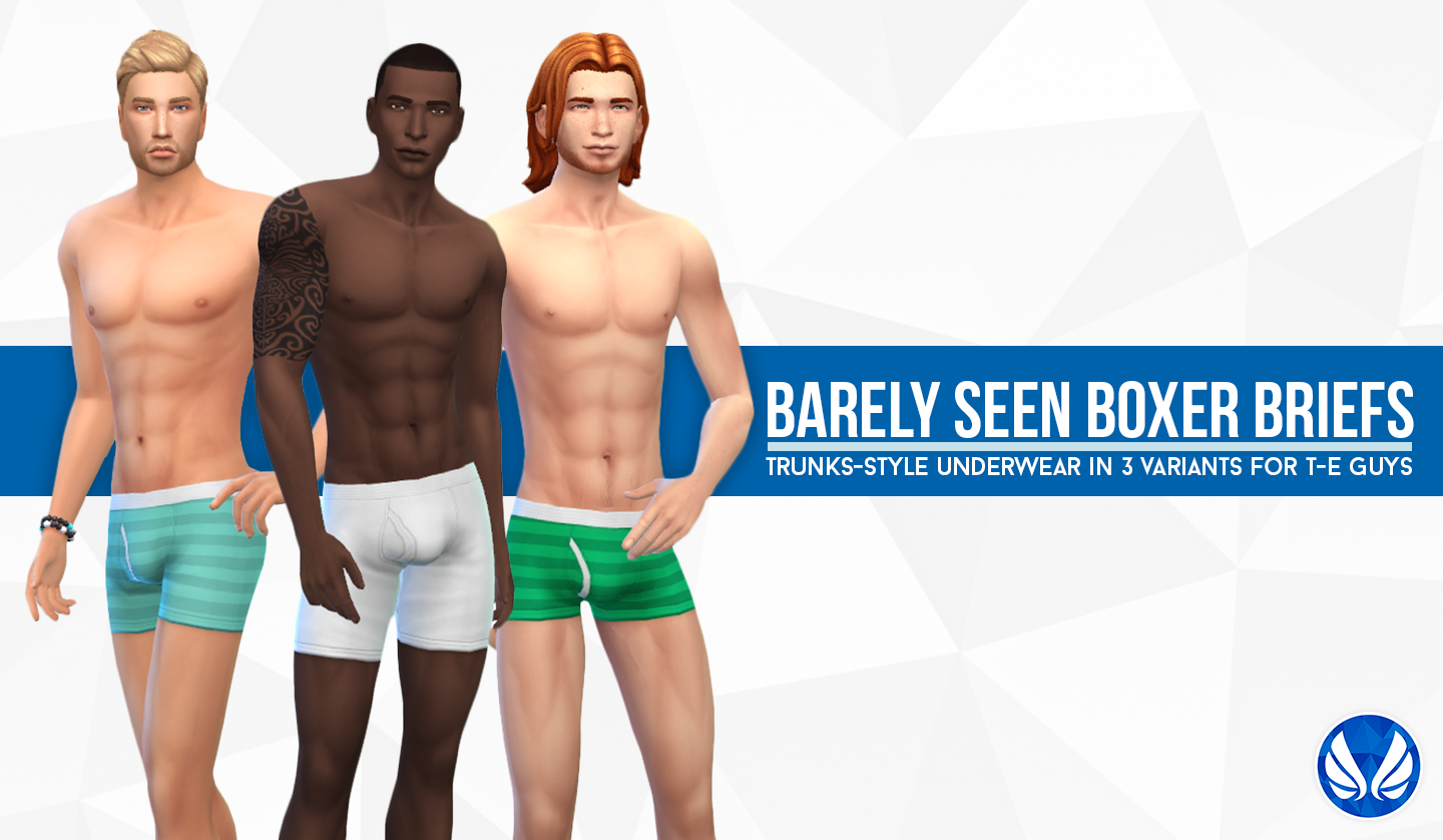 Barely Seen Boxer Briefs for Teen - Elder Males by Peacemaker ic