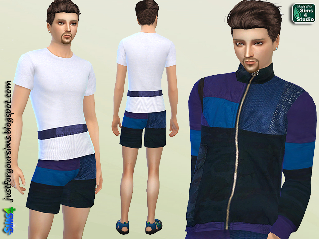 Jacket, Shorts and T-Shirt Set by Just For Your Sims