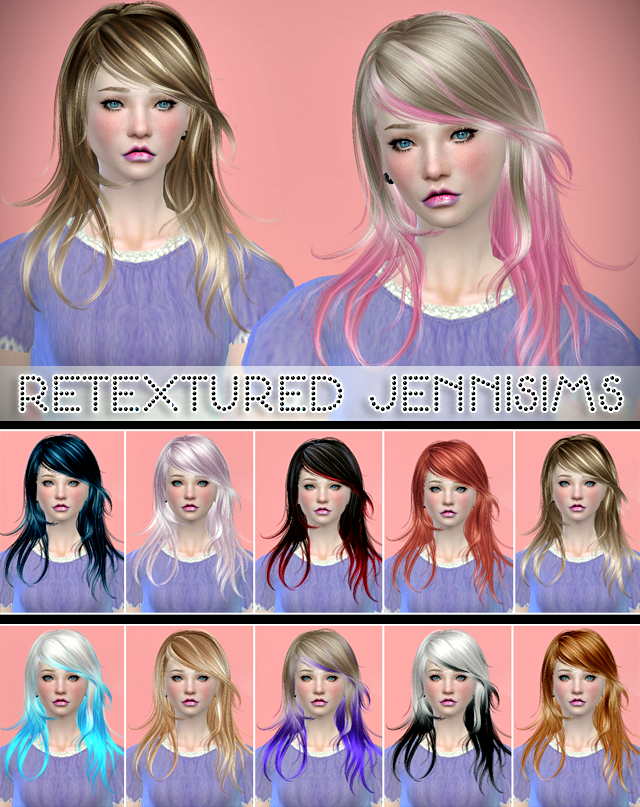 Newsea Flying Dance Hair retextured by Jenni Sims