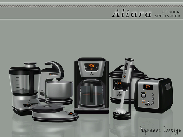 Altara Kitchen Appliances by NynaeveDesign