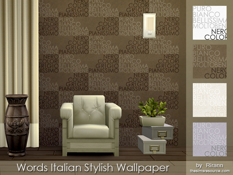 Words Italian Stylish Wallpaper BY Rirann