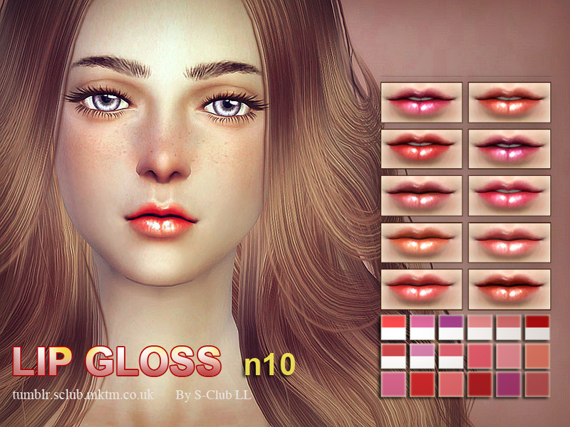 S-Club LL thesims4 Lipstick F10