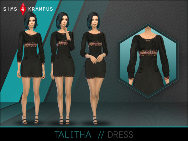 Talitha Dress by SIms4Krampus