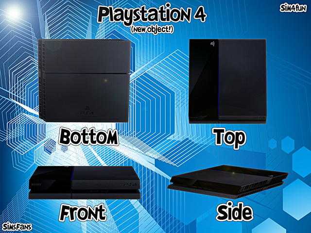 PlayStation 4 - New Mesh by Sim4Fun