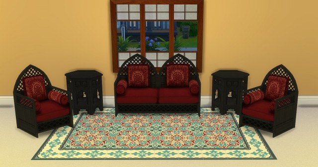 Moroccan Living Set by lexiconluthor