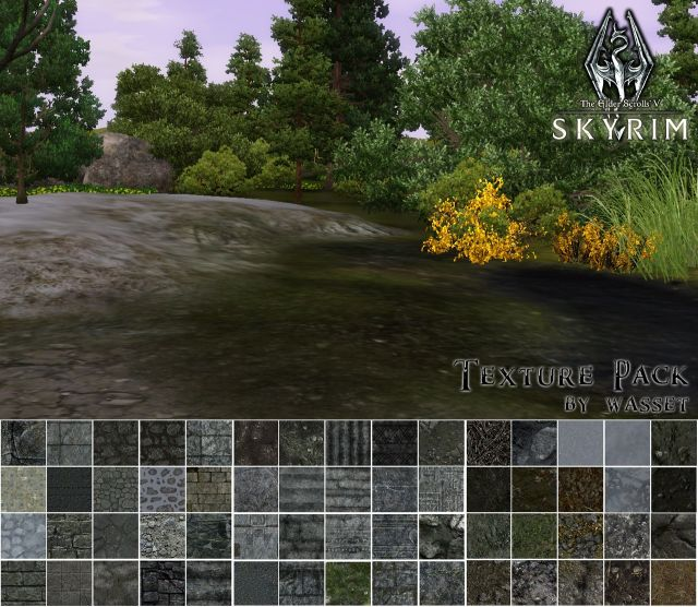 SKYRIM TEXTURES MEGAPACK - for TS3 and CAW by Wasset-aseskara