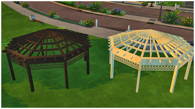 Gazebo - New Mesh by Marco13