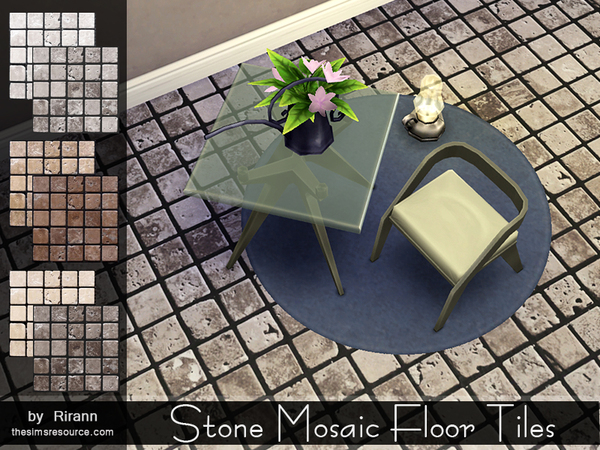 Stone Mosaic Floor Tiles by Rirann