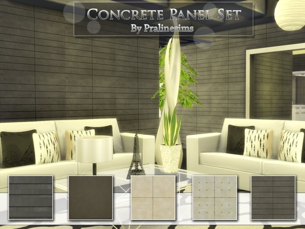 Concrete Panel Set by Pralinesims