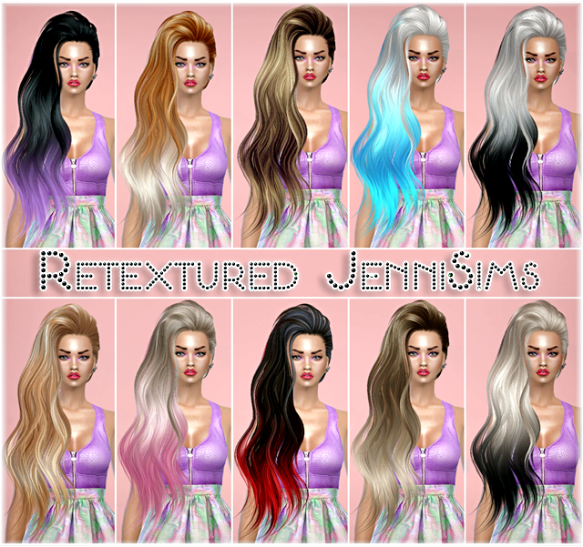 Sets of Hairs SkySims retextured by Jenni Sims