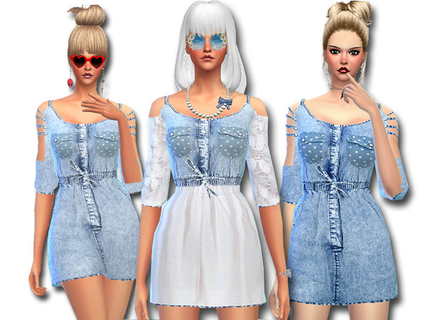 Denim Jeans Dress by Pinkzombiecupcakes