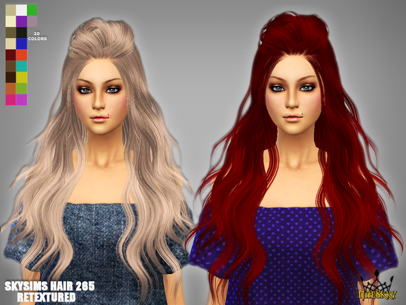 Skysims hair 265 retexture by NiteSkkySims