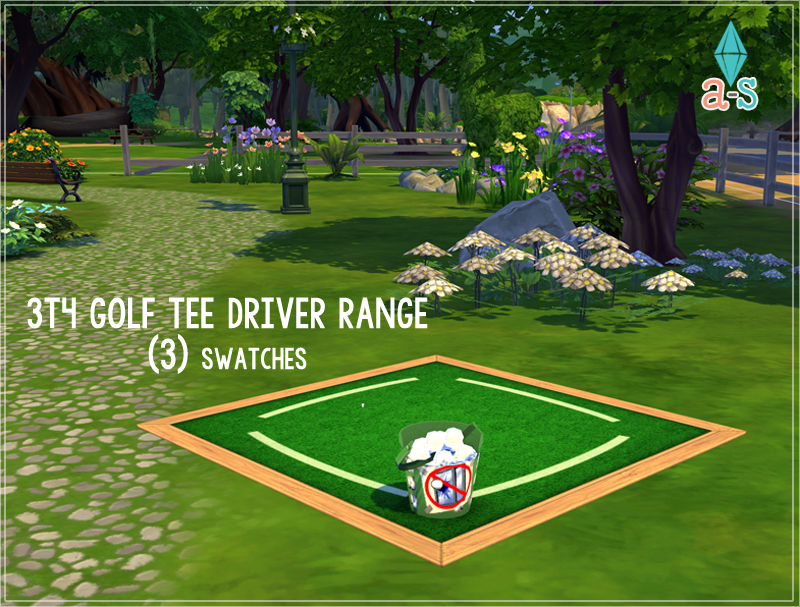 TS3 - Golf Tee Driver Ranges - Outdoor Clutter Conversion by Ajoya