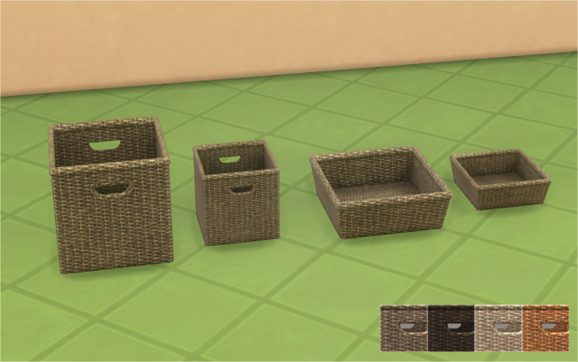 Woven Wicker Baskets by Veranka