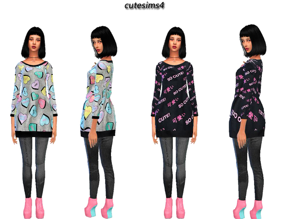 loose_oversize_Sweater_Set by sweetsims4