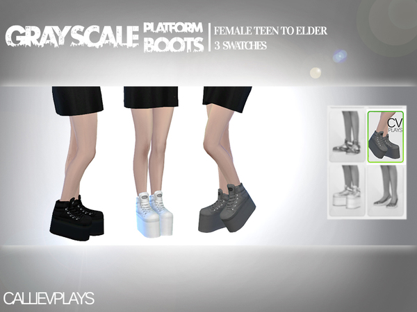 Grayscale Platform Ankle Boots by Callie V