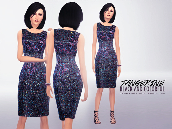 Black and Colorful - Dress by tangerinesimblr