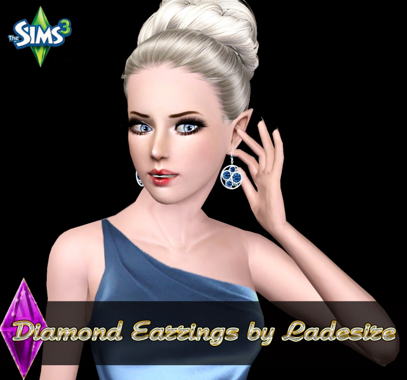 Diamond Earrings 02 by Ladesire