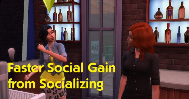 Faster Social Gain From Socializing by simmythesim