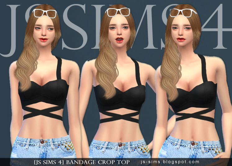 Bandage Crop Top by JS SIMS 4