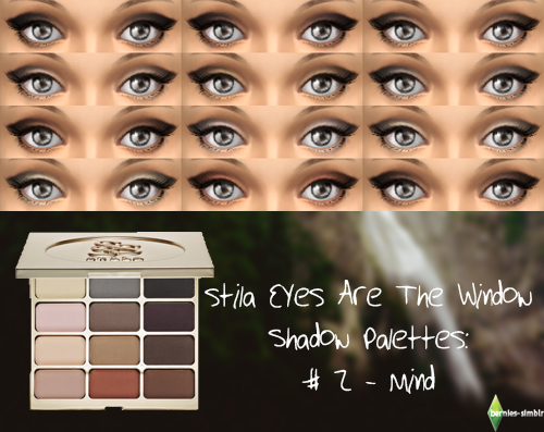 "Stila Eyes Are the Window Shadow Palettes ""Mind"" eye shadow palette by BerniesSimblr"