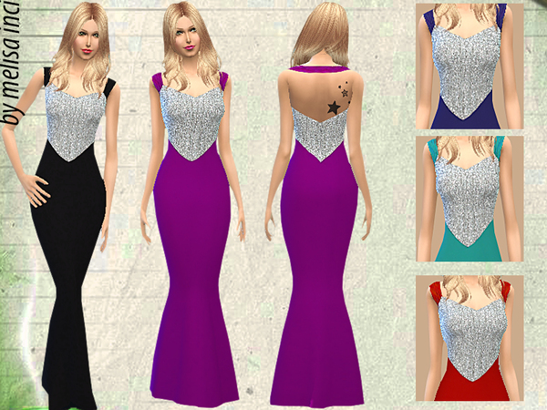 Off The Shoulder Sequin Bodice Gown by melisa inci
