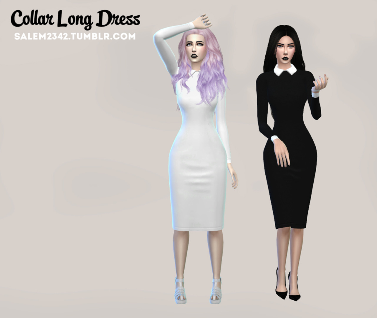 Collar Long Dress by Salem2342