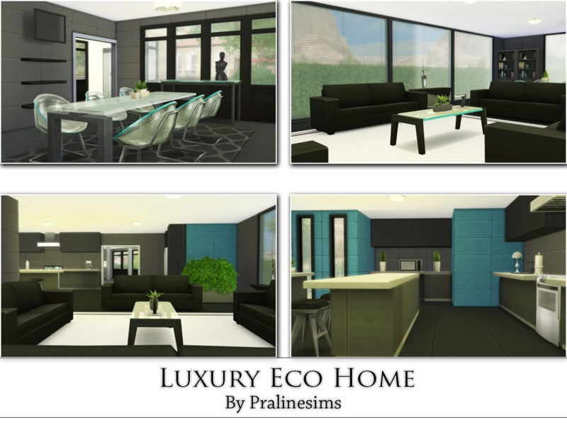 Luxury Eco Home BY Pralinesims