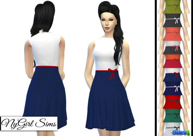 Vintage Style Flare Dress by NyGirl